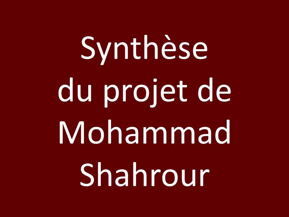 synthese-du-projet-de-mohammad-shahrour